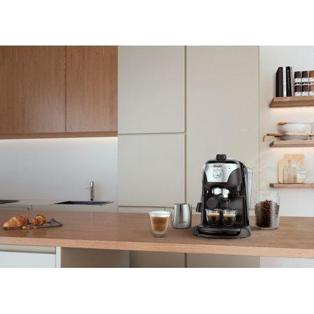 Espressor manual De'Longhi EC221.B, Dispozitiv spumare, Sistem cappuccino, 15 Bar, 1 l, Oprire automata, Negru/Gri [9]