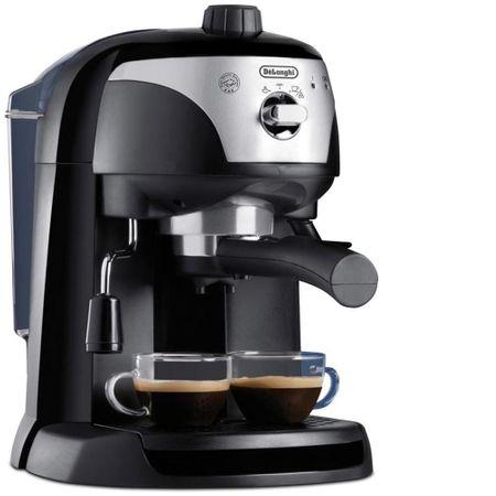 Espressor manual De'Longhi EC221.B, Dispozitiv spumare, Sistem cappuccino, 15 Bar, 1 l, Oprire automata, Negru/Gri [0]
