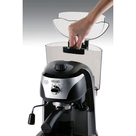 Espressor manual De'Longhi EC221.B, Dispozitiv spumare, Sistem cappuccino, 15 Bar, 1 l, Oprire automata, Negru/Gri [5]