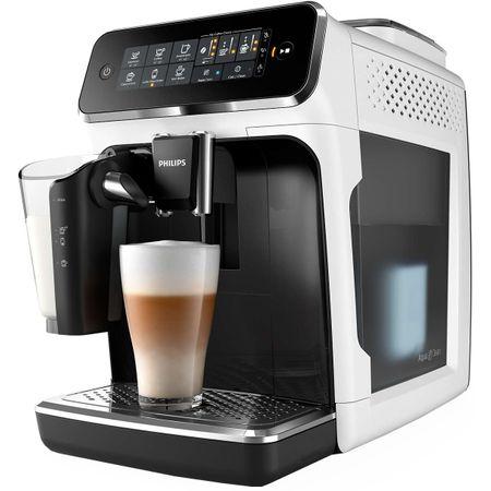 Espressor automat Philips EP3243.70, sistem de lapte LatteGo, 5 bauturi, filtru AquaClean, rasnita ceramica, optiune cafea macinata, ecran tactil, Alb [0]