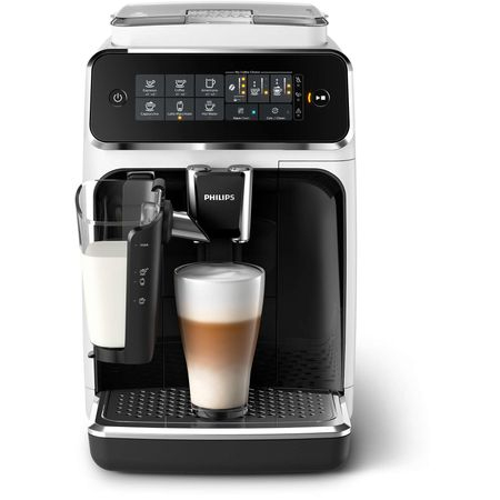 Espressor automat Philips EP3243.70, sistem de lapte LatteGo, 5 bauturi, filtru AquaClean, rasnita ceramica, optiune cafea macinata, ecran tactil, Alb [3]