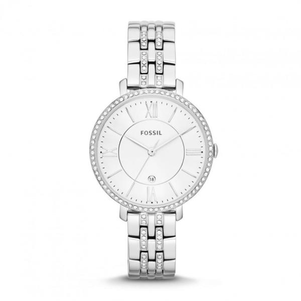 Ceas de dama Fossil Jacqueline cu cristale speciale,Argintiu ES3545 [5]