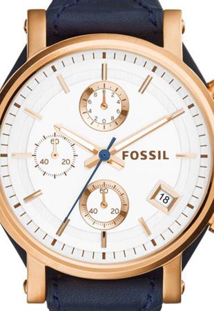 Ceas de Dama Fossil Original Boyfriend, curea de piele Albastru, Bleumarin [1]