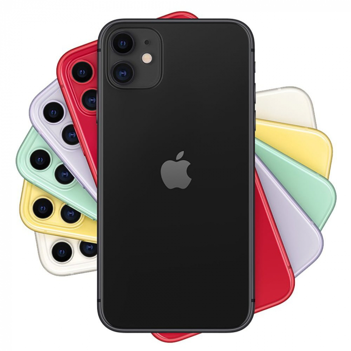Telefon mobil Apple iPhone 11, 64GB, 4GB RAM, 4G, Black [4]