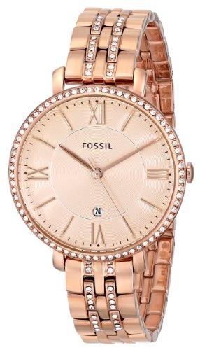 Ceas de dama Fossil, plin cu cristale LUX stralucitoare, Auriu rose, ES3546 [2]
