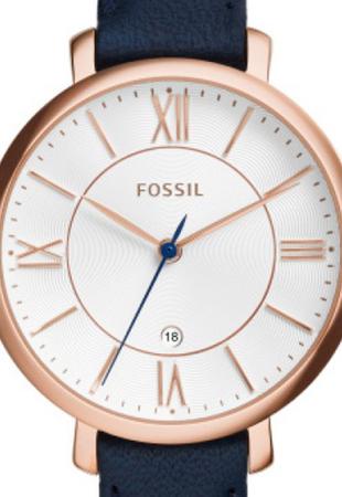 Ceas de dama original Fossil,analog cu carcasa rotunda Jacqueline, Bleumarin [1]