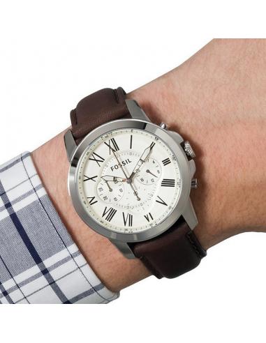 Ceas pentru barbati Fossil Grant, cu curea de piele,Maro [3]