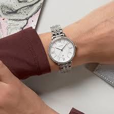 Ceas de dama Fossil Jacqueline cu cristale speciale,Argintiu ES3545 [4]
