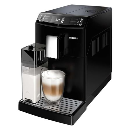 Espressor super-automat Philips EP3550/00, Sistem filtrare AquaClean, Carafa de lapte integrata, 5 setari intensitate, Optiune cafea macinata, 5 bauturi, Negru [1]