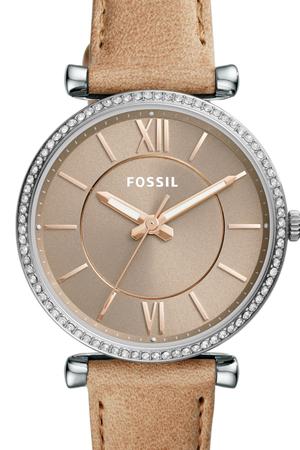 Ceas de dama original Fossil,curea piele, Maro deschis,rezistent apa [0]