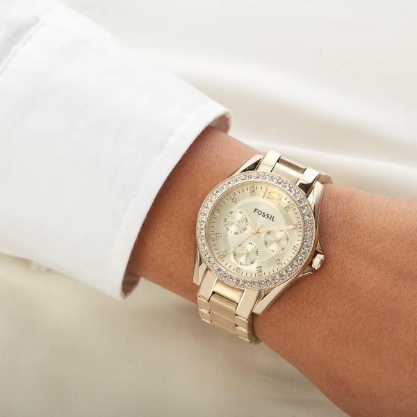 Ceas de dama original Fossil Riley cu cristale lux [2]