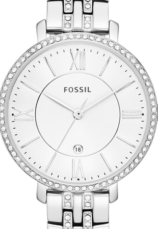 Ceas de dama Fossil Jacqueline cu cristale speciale,Argintiu ES3545 [0]
