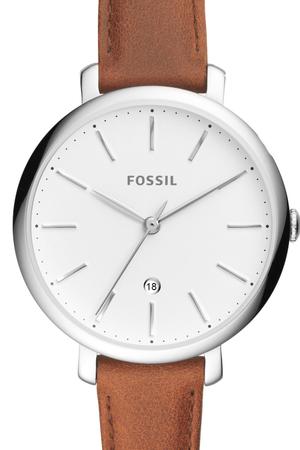 Ceas de dama Fossil cu o curea de piele, Maro inchis [1]