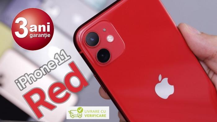 Telefon mobil Apple iPhone 11, 64GB, Red [6]