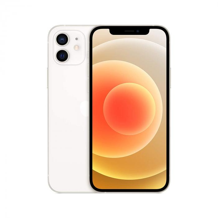 Telefon mobil Apple iPhone 12 White, Alb, 128GB, Dual eSim, Super retina XDR [7]