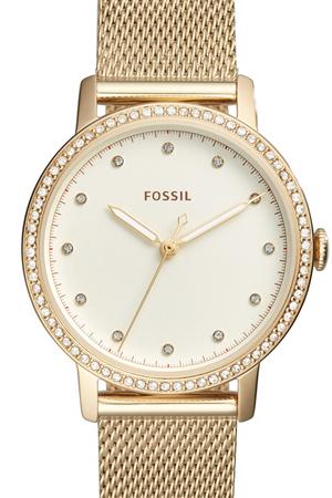 Ceas de dama original Fossil decorat cu cristale lux Neely, Auriu [0]