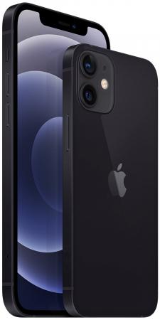 Telefon mobil Apple iPhone 12 Black Negru,64GB, Dual eSim, Super retina XDR [2]