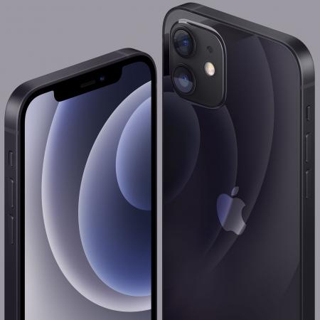 Telefon mobil Apple iPhone 12 Black Negru,64GB, Dual eSim, Super retina XDR [6]