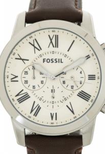Ceas pentru barbati Fossil Grant, cu curea de piele,Maro [1]