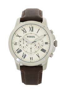Ceas pentru barbati Fossil Grant, cu curea de piele,Maro [0]