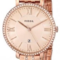Ceas de dama Fossil, plin cu cristale LUX stralucitoare, Auriu rose, ES3546 [4]