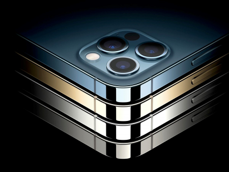 Telefon mobil Apple iPhone 12 Pro Max Pacific Blue 128GB [7]