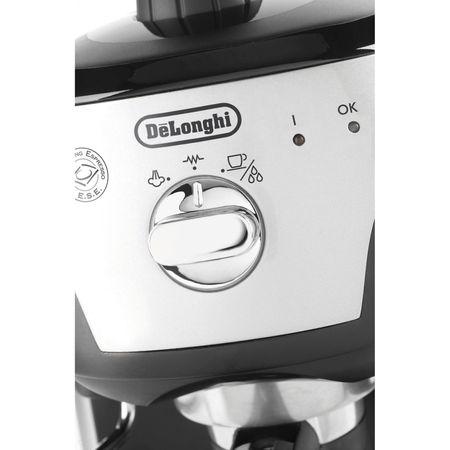 Espressor manual De'Longhi EC221.B, Dispozitiv spumare, Sistem cappuccino, 15 Bar, 1 l, Oprire automata, Negru/Gri [4]