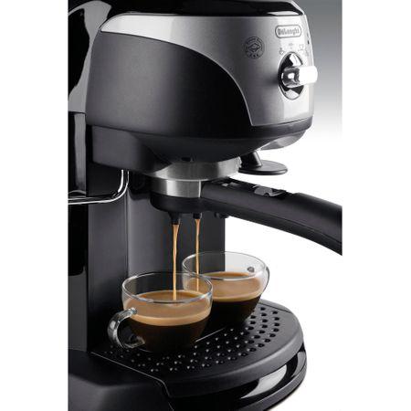 Espressor manual De'Longhi EC221.B, Dispozitiv spumare, Sistem cappuccino, 15 Bar, 1 l, Oprire automata, Negru/Gri [1]