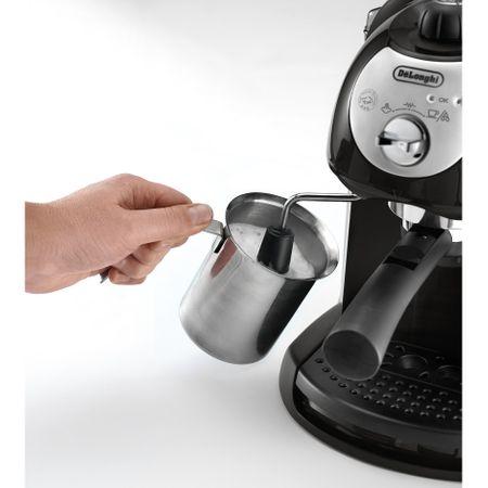 Espressor manual De'Longhi EC221.B, Dispozitiv spumare, Sistem cappuccino, 15 Bar, 1 l, Oprire automata, Negru/Gri [8]
