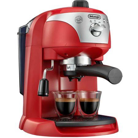 Espressor de cafea DeLonghi EC221.R, 1100W, 15bar, 1l, Culoare ROSU cu Gri [0]