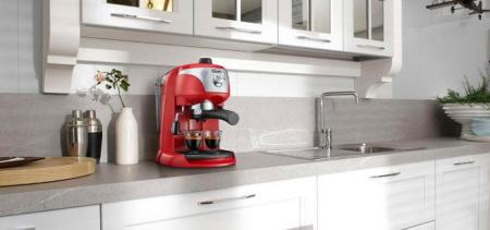 Espressor de cafea DeLonghi EC221.R, 1100W, 15bar, 1l, Culoare ROSU cu Gri [1]
