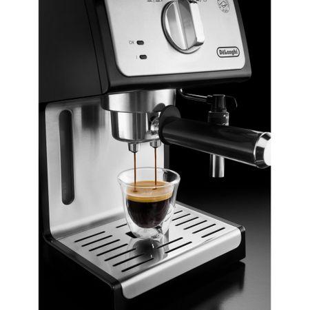 Espressor cu pompa De'Longhi ECP 35.31, 1100 W, 15 bar, 1.1 l, Negru, Suport filtru profesional, Cappuccino system reglabil - functie apa calda [4]
