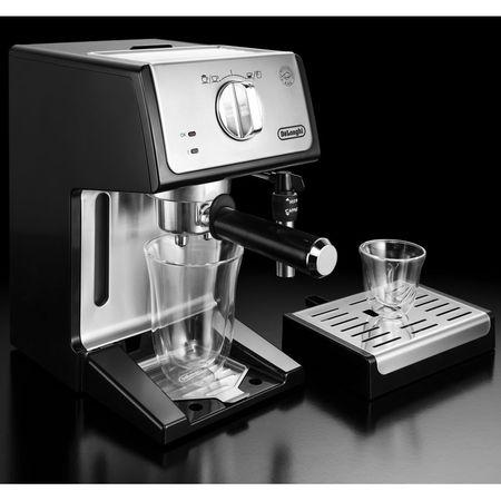 Espressor cu pompa De'Longhi ECP 35.31, 1100 W, 15 bar, 1.1 l, Negru, Suport filtru profesional, Cappuccino system reglabil - functie apa calda [3]