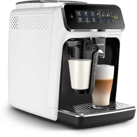 Espressor automat Philips EP3243.70, sistem de lapte LatteGo, 5 bauturi, filtru AquaClean, rasnita ceramica, optiune cafea macinata, ecran tactil, Alb [2]