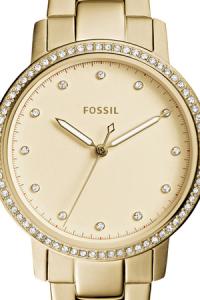 Ceas de dama Fossil, cu cristale LUX Neely, Auriu deschis [2]