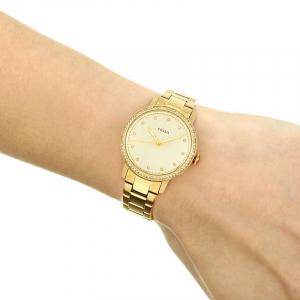 Ceas de dama Fossil, cu cristale LUX Neely, Auriu deschis [4]