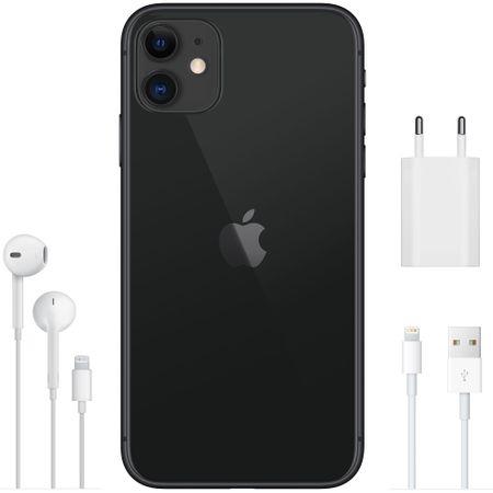 Telefon mobil Apple iPhone 11, 64GB, 4GB RAM, 4G, Black [6]