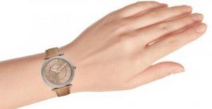 Ceas de dama original Fossil,curea piele, Maro deschis,rezistent apa [3]