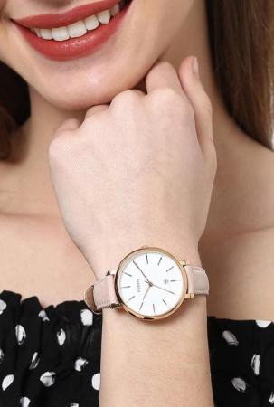 Ceas de dama Fossil cu o curea de piele Jacqueline, Crem [3]
