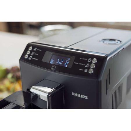 Espressor super-automat Philips EP3550/00, Sistem filtrare AquaClean, Carafa de lapte integrata, 5 setari intensitate, Optiune cafea macinata, 5 bauturi, Negru [3]
