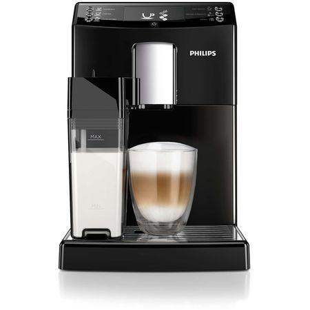 Espressor super-automat Philips EP3550/00, Sistem filtrare AquaClean, Carafa de lapte integrata, 5 setari intensitate, Optiune cafea macinata, 5 bauturi, Negru [2]