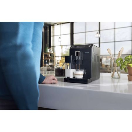 Espressor super-automat Philips EP3550/00, Sistem filtrare AquaClean, Carafa de lapte integrata, 5 setari intensitate, Optiune cafea macinata, 5 bauturi, Negru [0]