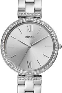 Ceas de dama original Fossil quartz decorat cu cristale Madeline, Argintiu [1]