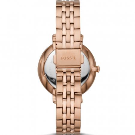 Ceas de dama Fossil, analog cu cadran cu model guilloche, Auriu rose , Antioxidabil [1]
