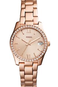 Ceas Fossil Scarlette,cu cristale minerale, Auriu rose [0]