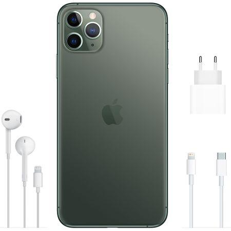 Telefon mobil Apple iPhone 11 Pro Max, 64GB, Midnight Green [3]