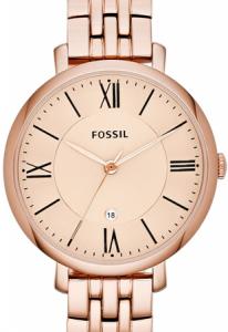 Ceas de dama original Fossil Jacqueline, cu cadran Rose Gold, Antioxidabil [2]