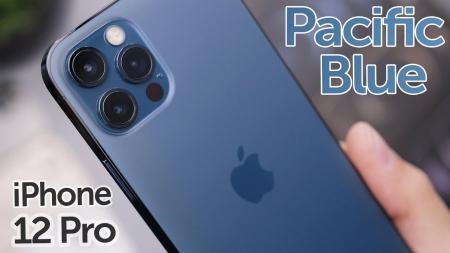 Telefon mobil Apple iPhone 12 Pro Pacific Blue 128GB + Folie Sticla Cadou [4]