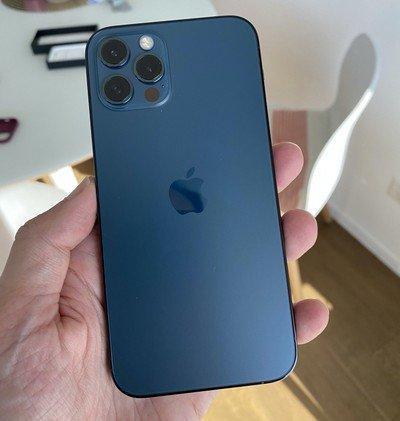 Telefon mobil Apple iPhone 12 Pro Max Pacific Blue 128GB [3]