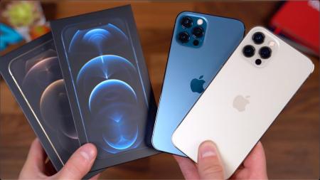 Telefon mobil Apple iPhone 12 Pro Pacific Blue 128GB + Folie Sticla Cadou [15]